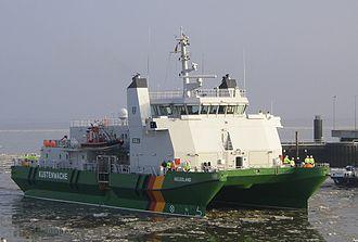 German Federal Coast Guard - Customs Cruiser (Zollkreuzer) Helgoland (a SWATH-Vessel)