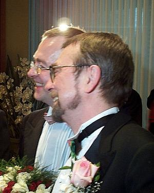 Same-sex marriage in Canada - Michael Hendricks and René Leboeuf, the first same-sex couple to legally marry in Quebec