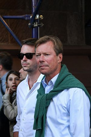 Henri, Grand Duke of Luxembourg - The grand duke with his son Felix in New York during 2013 UN session