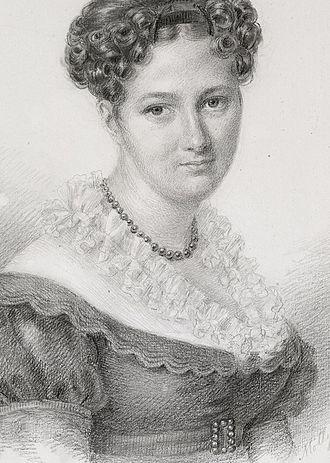 Benjamin Wegner - His wife Henriette Seyler (1805–75), daughter of Berenberg Bank co-owner L.E. Seyler, drawn by her sister Molly in 1827