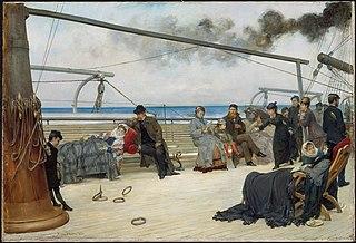 On the Open Sea-- The Transatlantic Steamship \