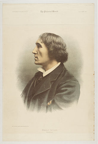 Henry Irving - Irving, 1883. From a photograph by Samuel A. Walker