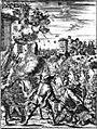Henry Morgan's attack on the Castillo de San Jeronimo, Porto Bello, 1669.jpg