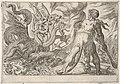 Hercules and the Hydra of Lerna- Hercules grasps his club with both hands and confronts the seven-headed hydra, from the series 'The Labors of Hercules' MET DP832529.jpg