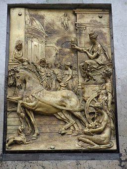Herkulesbrunnen Augsburg Bronzerelief 3