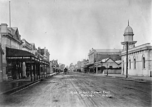 Rangiora - High Street circa 1910s.