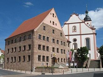 Hilpoltstein - Former residence and Saint John the Baptist church