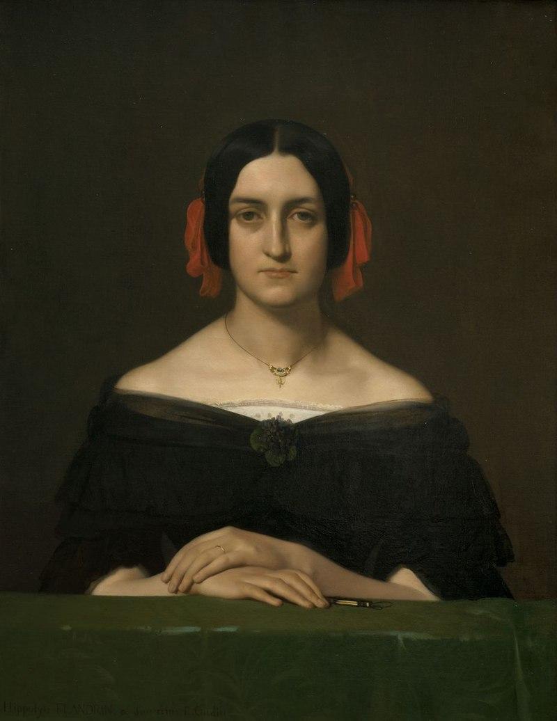 Hippolyte-Flandrin 1840 Antoinette-Oudine Image Lyon-MBA Photo-Alain-Basset.jpg