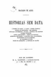 Machado de Assis: Historias sem data