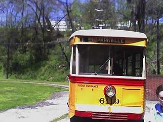 Route 19 (MTA Maryland) - A historic No. 19 streetcar at the Baltimore Streetcar Museum