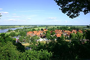 Hitzacker - View from the Weinberg over the old town