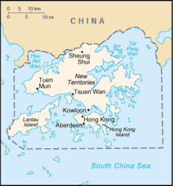 Location of colonial Hong Kong