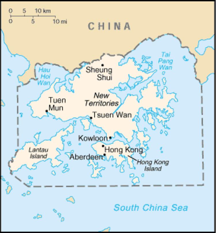 Hong Kong colonial map