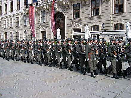 Soldiers on parade on Austrian National Day in 2006