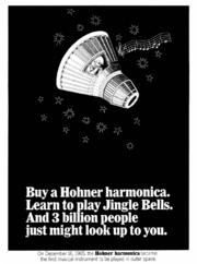 Hohner harmonica ad, 1966