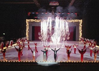 Ice theatre - Ice theatre may refer to both a competitive discipline as well as professional skating ensembles, such as Holiday on Ice (pictured), which is a theatrical ice show.