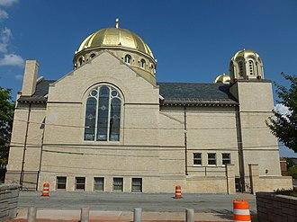 Holy Trinity Greek Orthodox Church (Lowell, Massachusetts) - Image: Holy Trinity Church; Lowell, MA; west side; 2011 08 20