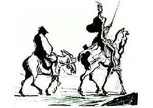 Don Quixote and Sancho Panza by Honoré Daumier