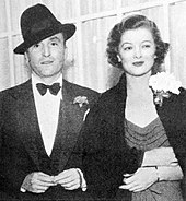 Arthur Hornblow Jr. and Loy soon after their marriage in 1936