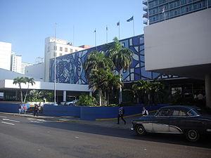 Amelia Peláez - Hotel Tryp Habana Libre, in Havana, featuring mural by Amelia Peláez.