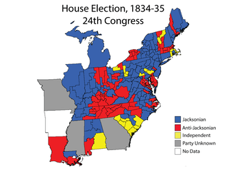 United States House of Representatives elections, 1834 - Image: House 024Elections Map