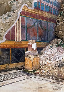 House of the Silver Wedding Archaeological remains of a Roman house in Pompeii