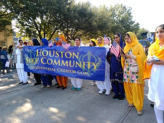 Sikhism in the United States - Houston Sikh Community at the 2016 Martin Luther King Day parade in Midtown Houston