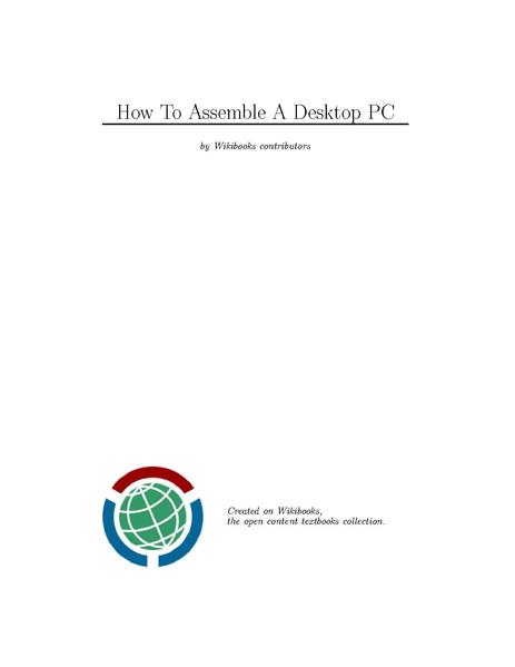 File:How To Assemble A Desktop PC.pdf