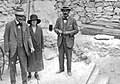 Howard Carter, Lord Carnarvon and Lady Evelyn Herbert at Tutankhamen's tomb.jpg