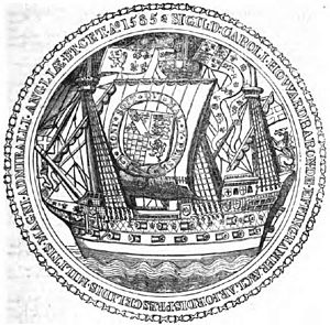 Charles Howard, 1st Earl of Nottingham - Seal dating from 1585.