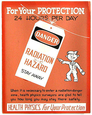 Health physics - 1947 Oak Ridge National Laboratory poster.