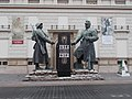 Huge soldier statue. Mid. - Ybl Miklós Sq., Budapest.JPG