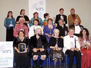 Science-fiction convention - Hugo Award winners at Worldcon 2005 in Glasgow, August 2005. Picture taken by Szymon Sokó