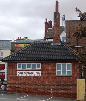 Hunstanton railway station - Former station coal shed, now an art gallery.