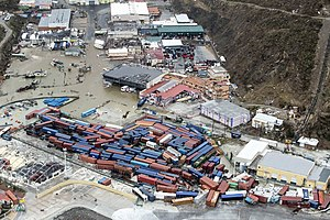 Sint Maarten - The port in Sint Maarten after Hurricane Irma