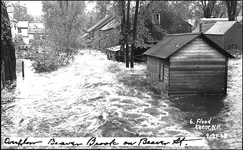 File:Hurricane and Flood of 1938, Keene NH - Beaver Brook Overflowed onto Beaver Street (2593029610).jpg