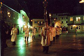 Za križen-processionen på øen Hvar