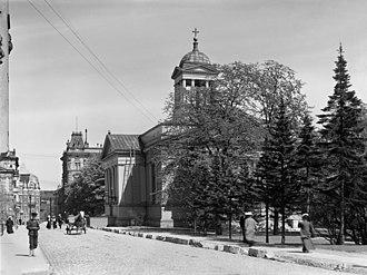 Helsinki Old Church - Helsinki Old Church in 1908.