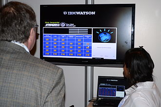 Watson (computer) - Watson demo at an IBM booth at a trade show