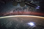 ISS-44 Milky Way and lightning strike from space.jpg