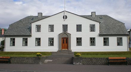 Stjórnarráðið, the seat of the Cabinet of Iceland, the executive branch of the government - Iceland
