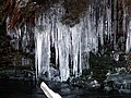 Icicles on the bank of The Little Don River - geograph.org.uk - 1110050.jpg