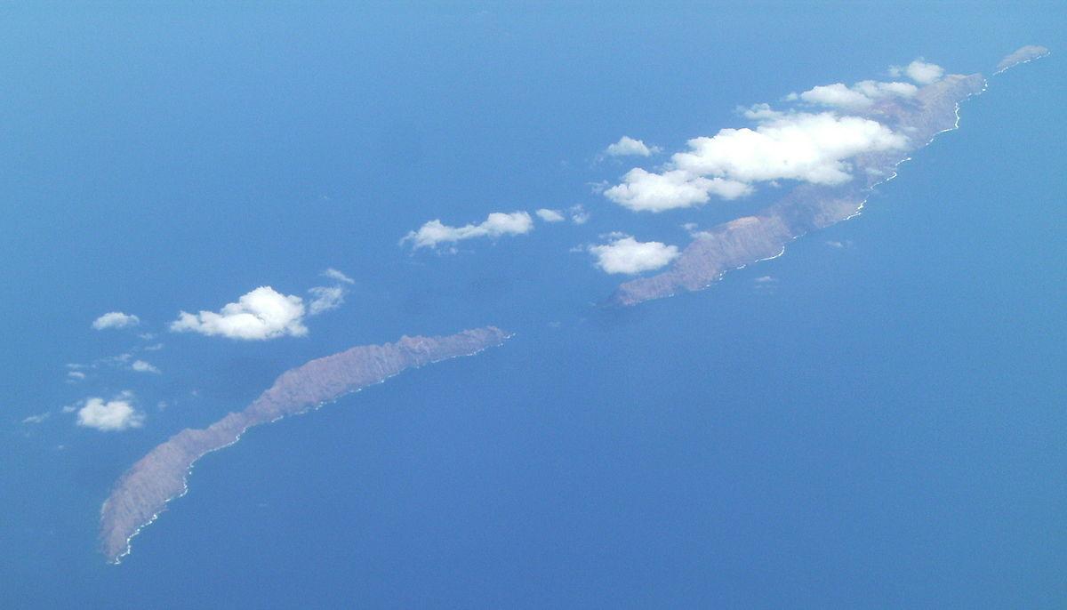 Foto aérea de las Ihlas Desertas - Madeira, Portugal