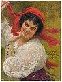 Ilja Jefimovitsj Repin - Adelaide von Skilondz, 1882-1969, operasångerska, sångpedagog, gift med Vladislav Skilondz - NMGrh 3921 - Nationalmuseum.jpg
