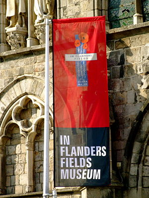 In Flanders Fields Museum - Banner outside the museum.