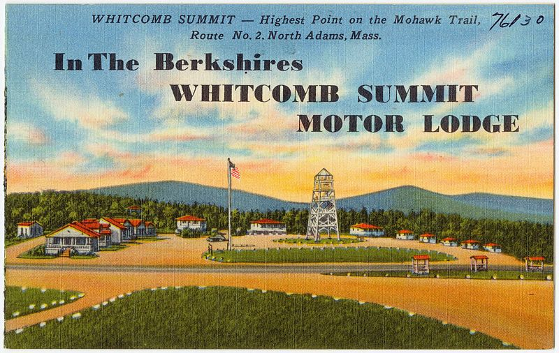 File:In the Berkshires Whitcomb Summit Motor Lodge, Whitcomb Summit -- Highest point on the Mohawk Trail, Route No. 2, North Adams, Mass (76130).jpg