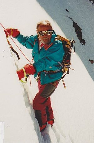 Marian Ionescu - Ionescu on the Peutrey Ridge to the Mont Blanc summit