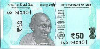 Indian 50-rupee note