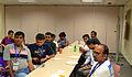 Indic Wikipedian meetup, Wikimania2013 03.jpg