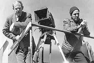 The Silence (1963 film) - Ingmar Bergman and Sven Nykvist film on the set of The Silence.